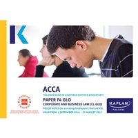 Picture of Kaplan - ACCA F4 Corporate and Business Law CL (GLO)