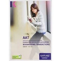 Picture of Kaplan - AAT Bookkeeping transactions BTRN 2017/18