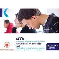 Picture of Kaplan - ACCA  - AB - Accountant in Business  - Pocket Notes