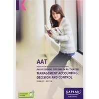 Picture of Kaplan - AAT -  - Management Accounting: Decision and Control - Exam Kits