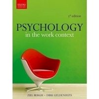 Picture of  Psychology in Work Context by Bergh & Geldenhuys (5th Edition)