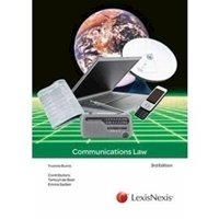 Picture of  Communications Law 3ed: Non-Stock Item - delivery 2 - 3 weeks