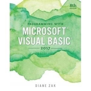 Picture of Programming with Microsoft Visual Basics 2017