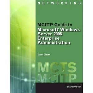 Picture of  MCITP Guide to Microsoft Windows Server 2008, Enterprise Adminstration